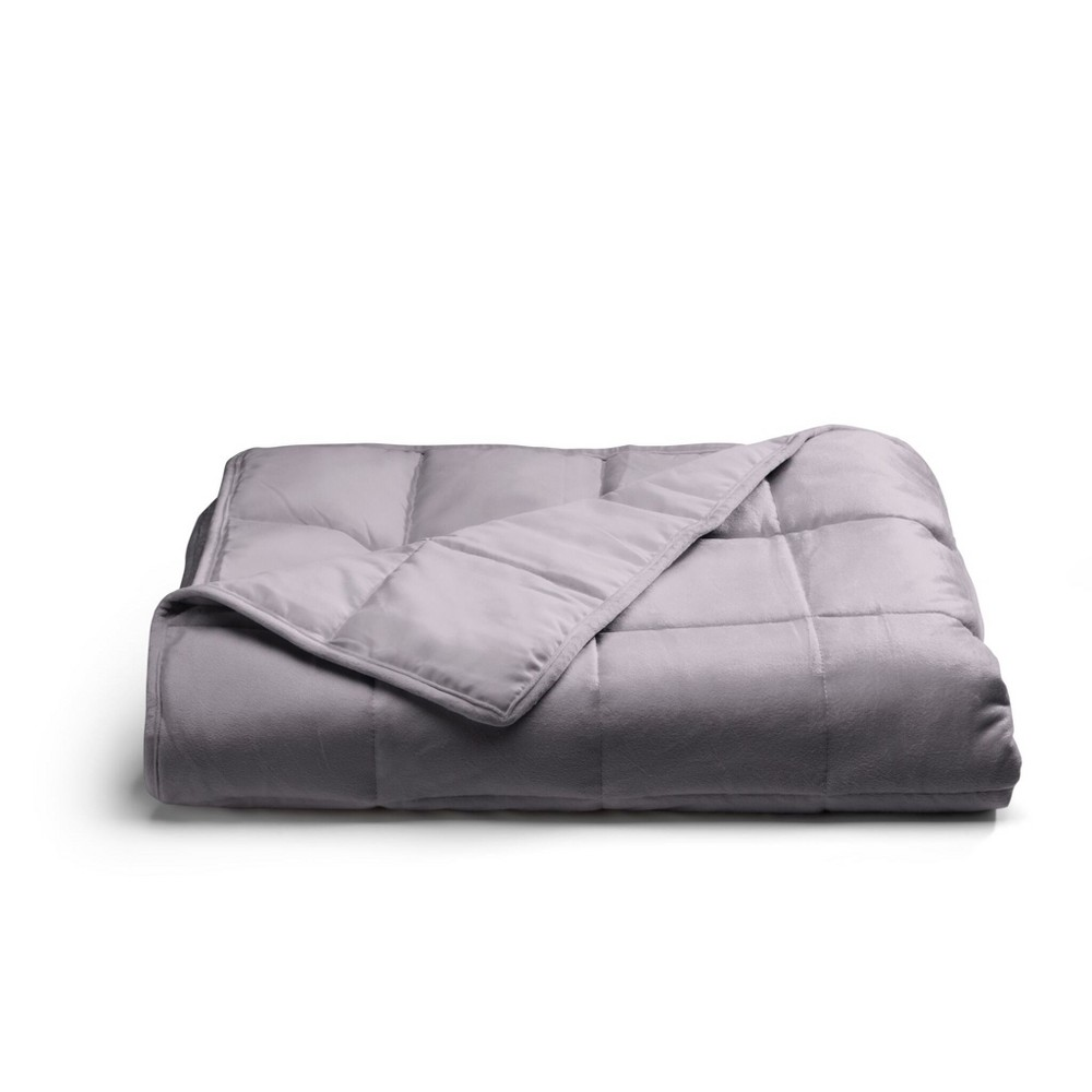Image of 12lbs Weighted Throw Blanket Gray - Tranquility