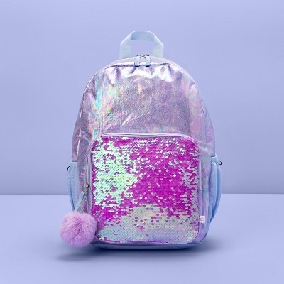 "17"" Kids' Backpack Flip Sequin Purple - More Than Magic™"