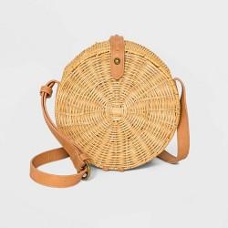 Straw Rattan Circle Crossbody Bag - Universal Thread™ Natural