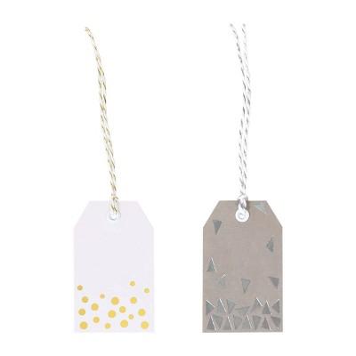 10ct Gift Tags White/Gray - Spritz™