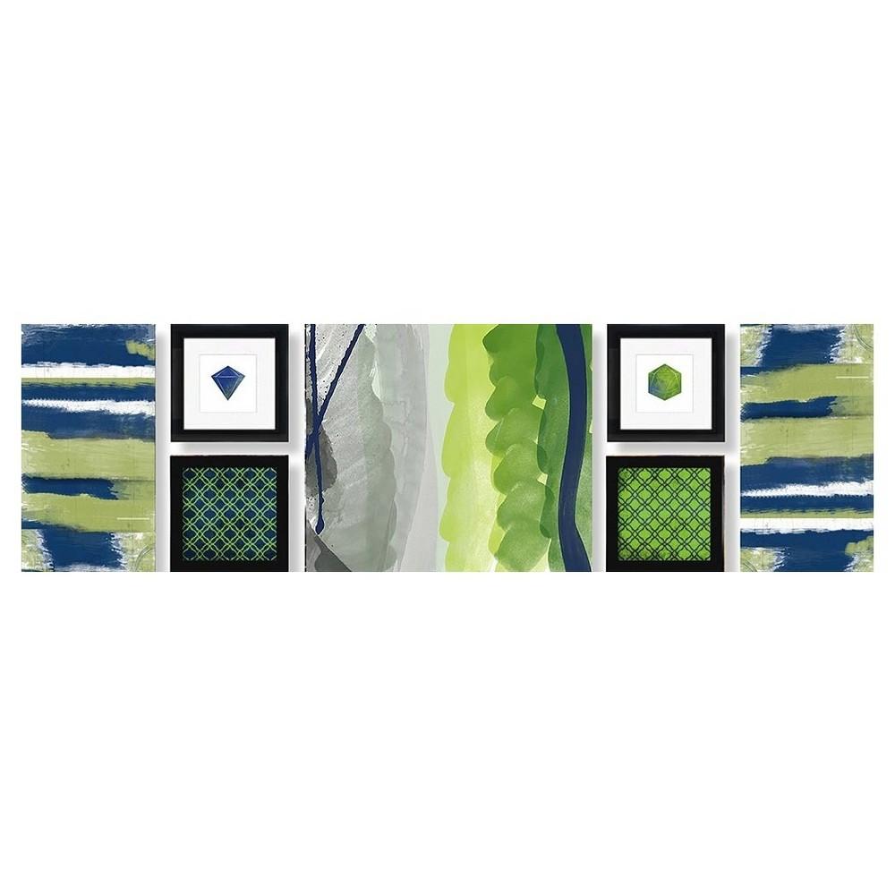 Best Shopping Emerald Framed Wall Canvas Jade Lime 52x15