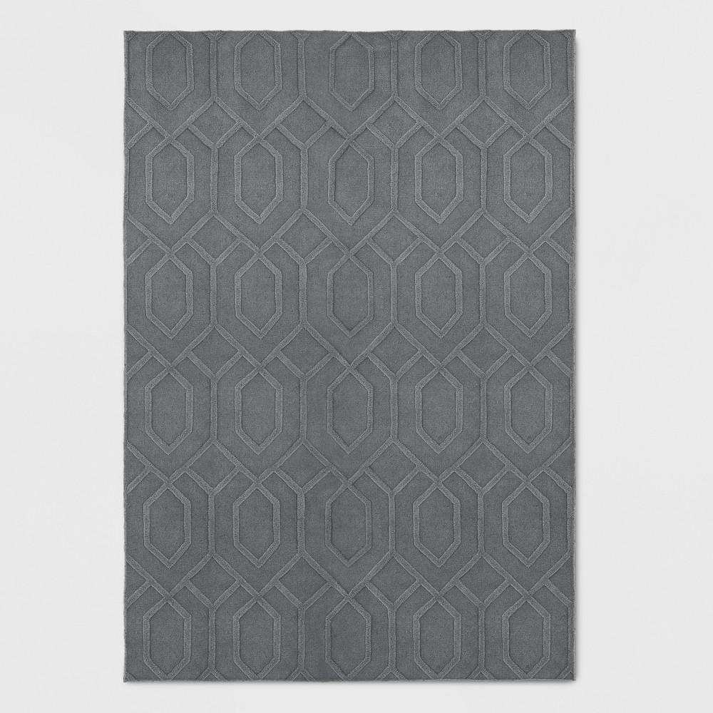 7'X10' Wool Carved Tufted Area Rug Gray - Project 62 was $399.99 now $199.99 (50.0% off)