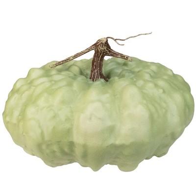 "Northlight 6.5"" White Textured Pumpkin Fall Halloween Statue"