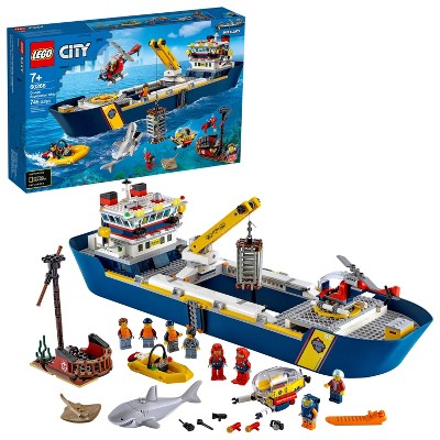 LEGO City Ocean Exploration Ship; Cool Building Toy for Kids 60266