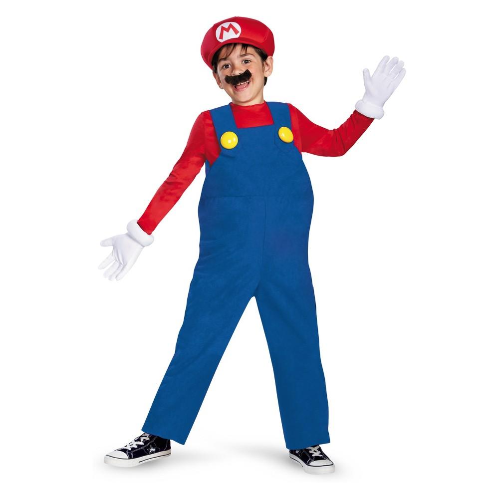 Kids' Super Mario Bros Mario Halloween Costume M (7-8), Boy's, Multicolored
