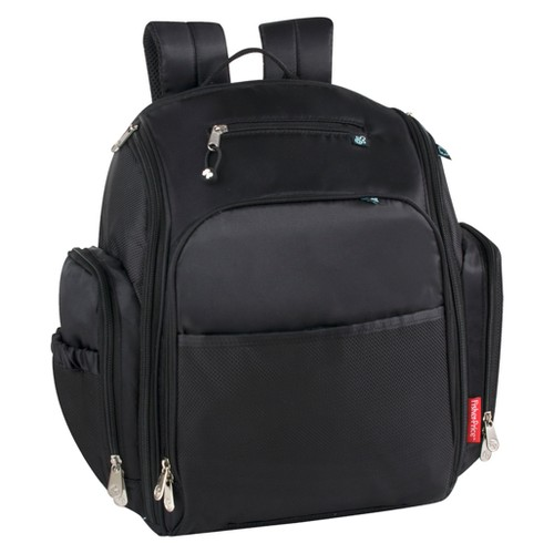 Fisher-Price Kaden Diaper Backpack - Black
