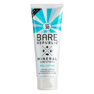 Bare Republic Mineral Body Gel Sunscreen Lotion - SPF 30 - 4 fl oz