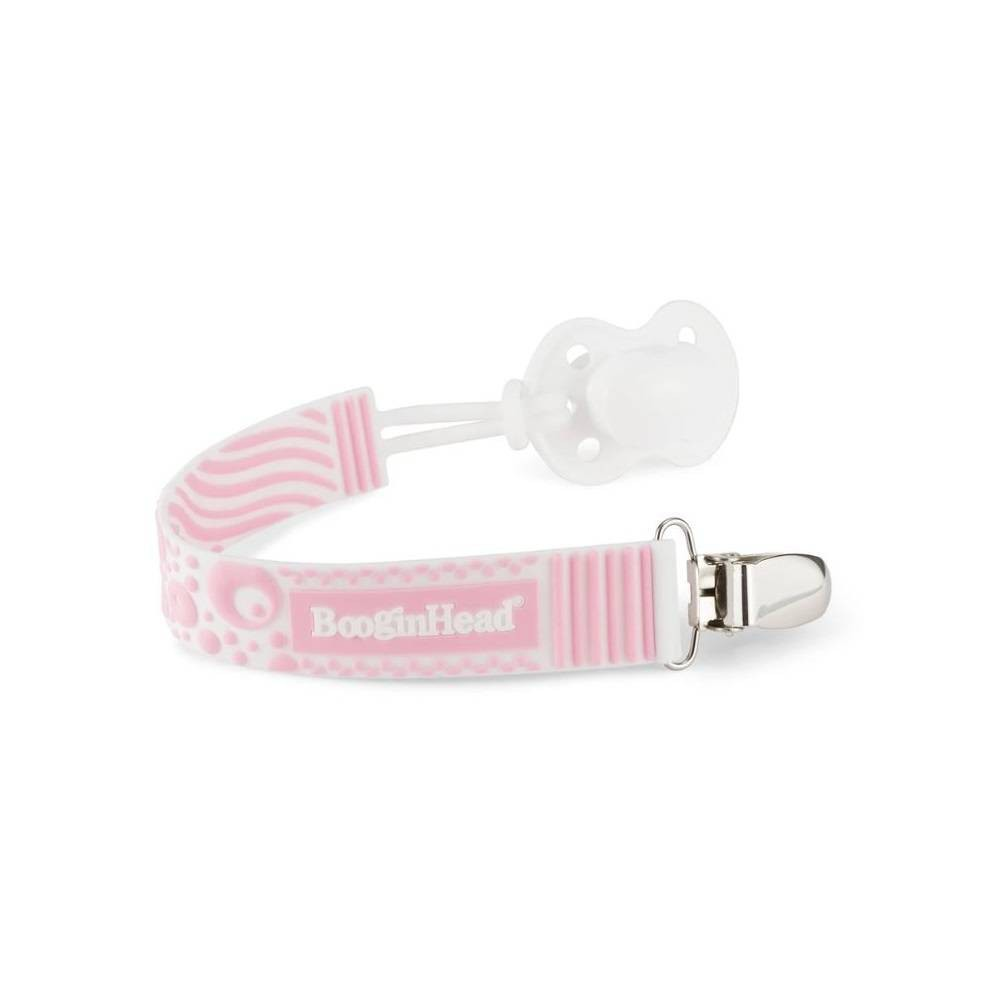 Booginhead Pacigrip Silicone Pacifier Clip Pacifier Holder Pink
