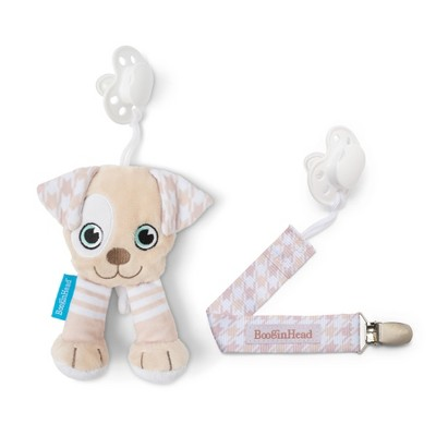 BooginHead Plush PaciPal / PaciGrip Pacifier Clip Pacifier Holder Set - 2pc Puppy
