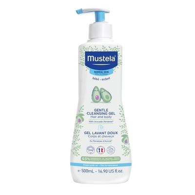 Mustela Gentle Cleansing Gel Baby Body Wash and Baby Shampoo - 16.9 fl oz