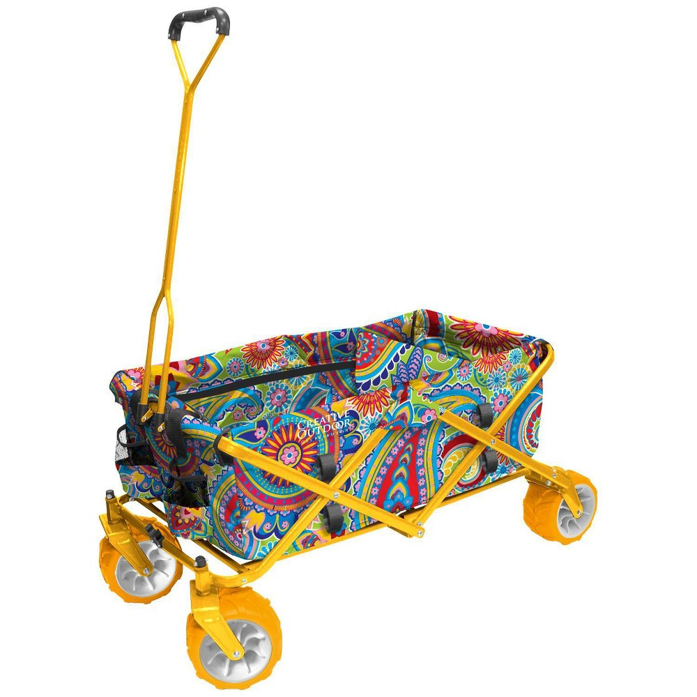 Image of Creative Outdoor Distributor All Terrain Folding Wagon - Yellow