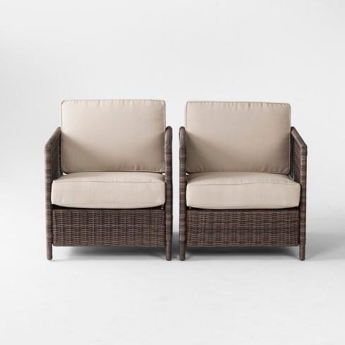 Monroe 2pk Wicker Motion Patio Club Chair - Threshold™ - image 1 of 3