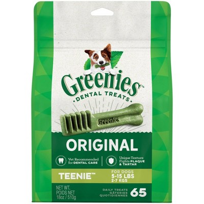 Greenies Teenie Original Dental Dog Treats - 65ct/18oz