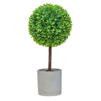 Artificial Boxwood Arrangement Green 15.5  - Lloyd & Hannah
