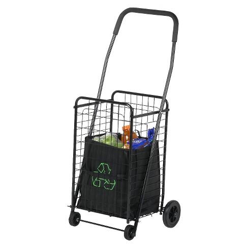 Folding Wheeled Ping Utility Cart Black