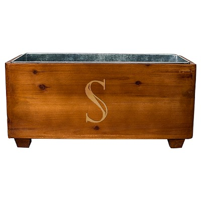 Cathy's Concepts Personalized Wooden Wine Trough - S
