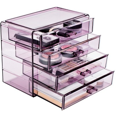 Sorbus Makeup and Jewelry Storage Case Display - 4 Large Drawers