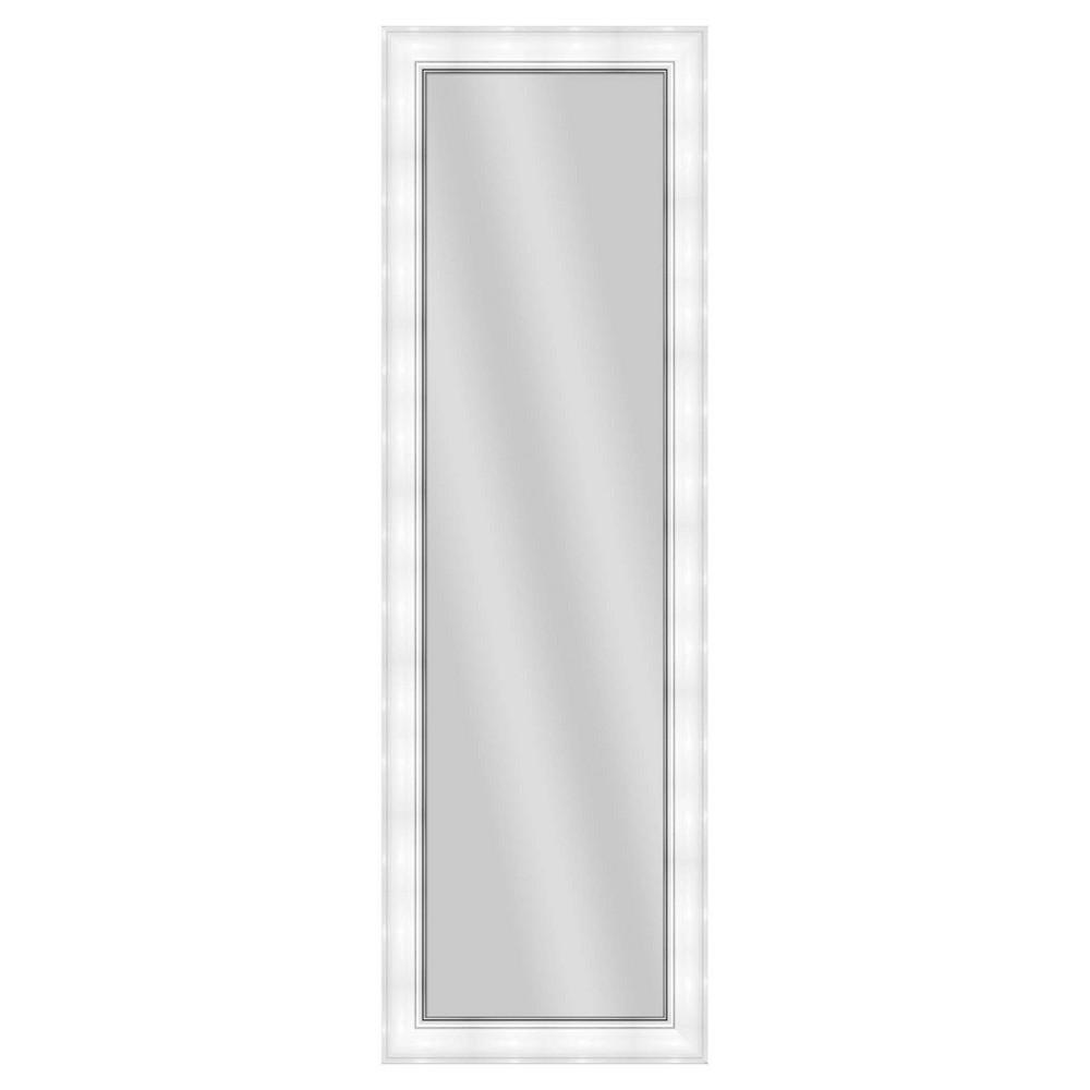 Floor Mirror Ptm Images White, Multi-Colored