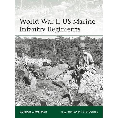 World War II US Marine Infantry Regiments - (Elite) by  Gordon L Rottman (Paperback) - image 1 of 1