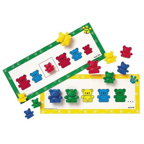 Set of 96 6 colours Learning Resources Three Bear Family Counters Rainbow Set