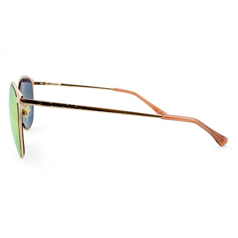 a51d5e9a861 Women s Metal Clubmaster Sunglasses With Rose Gold Lens - A New Day™ Rich  Gold   Target