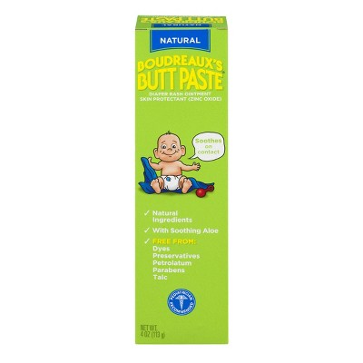 Boudreaux's Butt Paste Diaper Rash Ointment - With Natural Aloe - Preservative Free, 4oz Tube