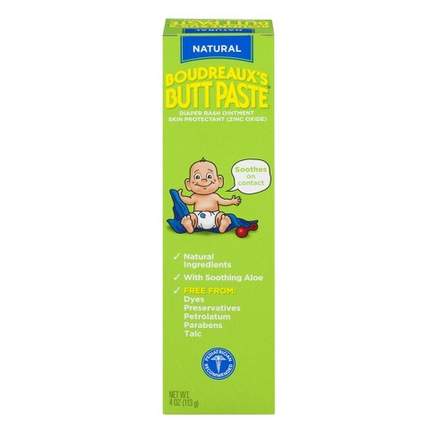 Boudreaux's Butt Paste Diaper Rash Ointment - With Natural Aloe - Preservative Free, 4oz Tube - image 1 of 7