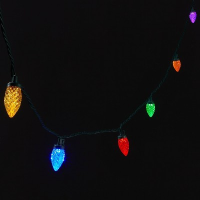80ct LED C9 Faceted String Lights with Green Wire - Wondershop™