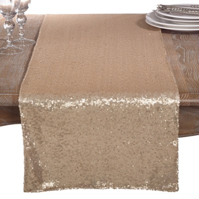 Gold Shimmer Solid Napkin - Saro Lifestyle