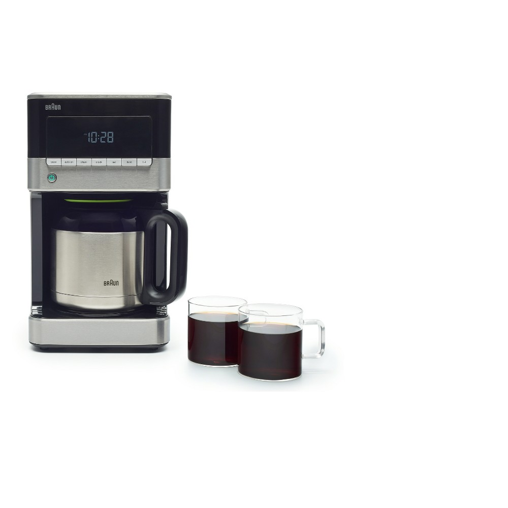 Braun Coffee Maker with Thermal Carafe, Silver 52904412