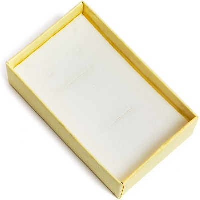 16 Pack Yellow Jewelry Gift Boxes with Lids and Ribbon Bows for Display Rings, Earrings, Necklaces and Bracelets