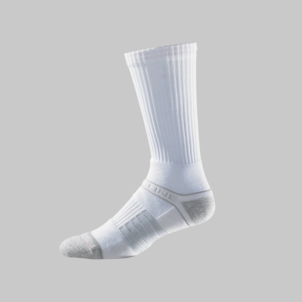 Image of Men's Strideline Crew Athletic Socks - White One Size