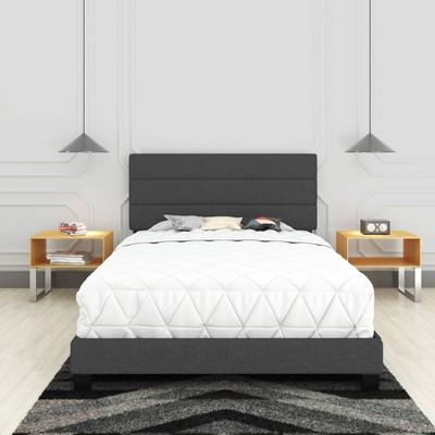 Marino Linen Channel Upholstered Platform Bed - Eco Dream