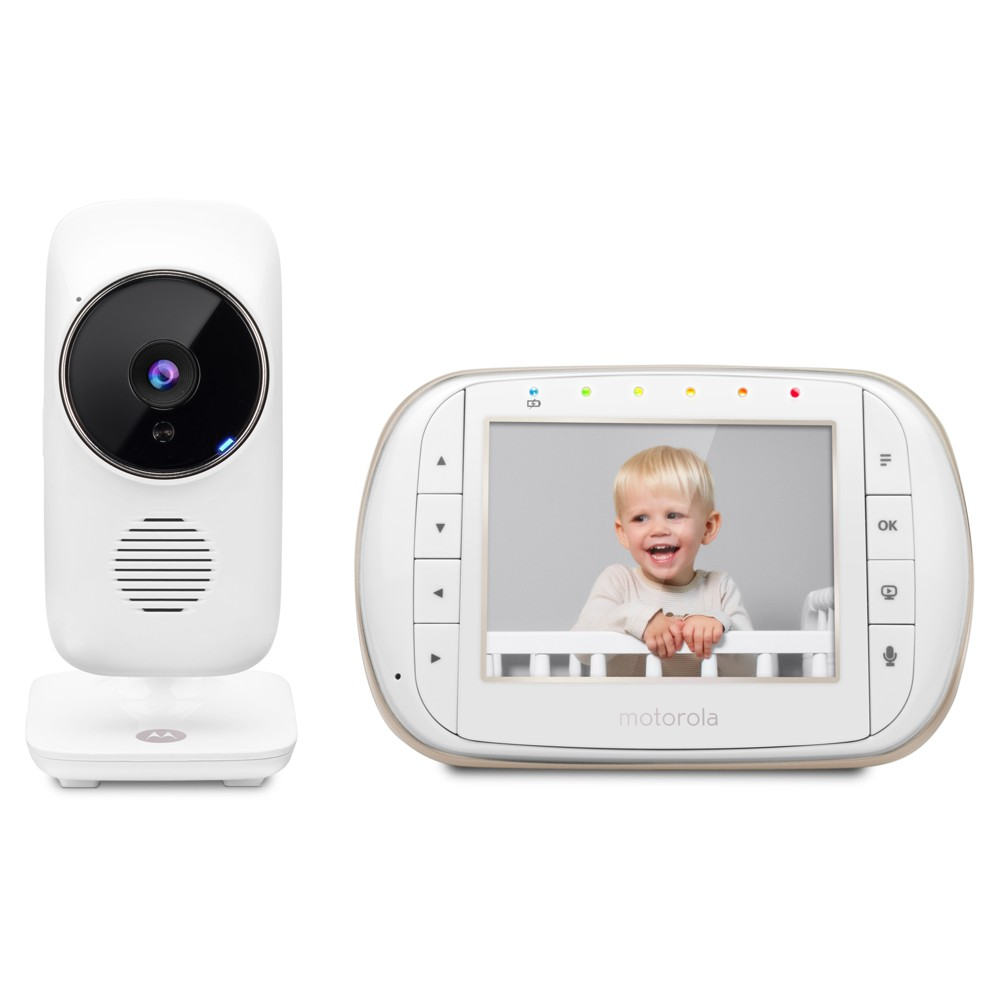 Image of Motorola 3.5\ Smart Wi-Fi Video Baby Monitor - MBP668CONNECT, White