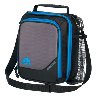 Igloo MaxCold Vertical Lunch Bag - Black/Blue
