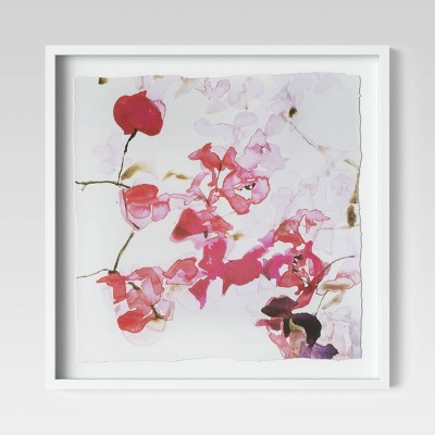 "20"" x 20"" Floral Photography Framed Print - Opalhouse™"