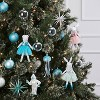 2ct Sequin Jellyfish Christmas Ornament Set Blue and White - Wondershop™ - image 2 of 2