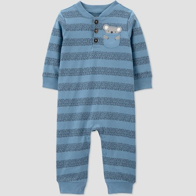 Baby Boys' Koala Striped Romper - Just One You® made by carter's Blue 3M