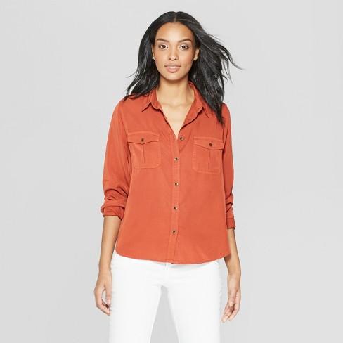 fc1c53cf Women's Long Sleeve Collared Button-Down Shirt - Universal Thread ...