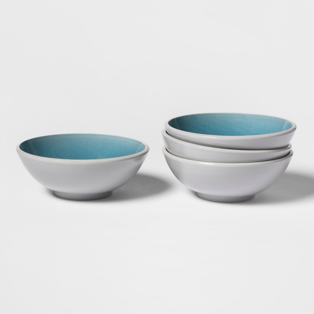 Portel Stoneware Bowl 24oz Teal - Set of 4 - Project 62, Blue