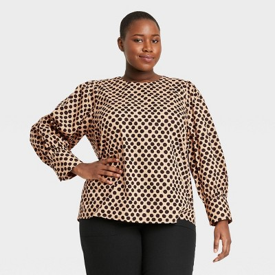 Women's Balloon Long Sleeve Button-Back Top - Who What Wear™