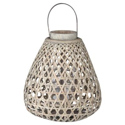 Coconio Wood Lattice Lantern Tapered - A&B Home®