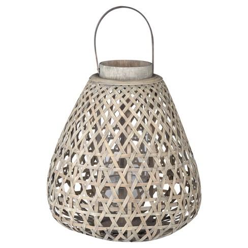 Coconio Wood Lattice Lantern Tapered - A&B Home - image 1 of 3