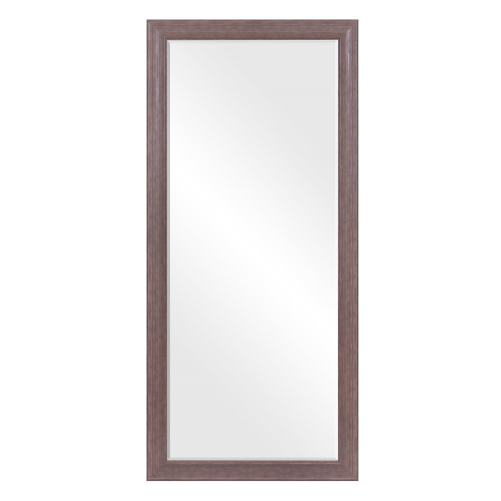 """Image of """"24""""""""x58"""""""" Beveled Leaner in Classic Taupe Wood Frame Floor Mirror Taupe - Patton Wall Decor, Gray"""""""