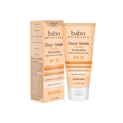 Sunscreen & Tanning: Babo Botanicals Daily Sheer Tinted