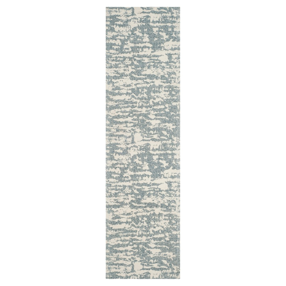 Blue/Ivory Spacedye Design Woven Runner 2'3X8' - Safavieh