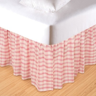 C&F Home Pink Plaid Bed Skirt