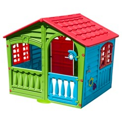 PalPlay House of Fun Playhouse - Green/Red/Blue