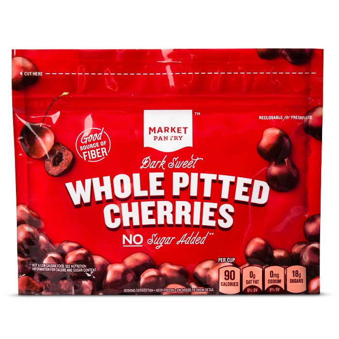 Dark-Sweet Pitted Cherries Frozen Whole Fruit - 12oz - Market Pantry™ - image 1 of 1