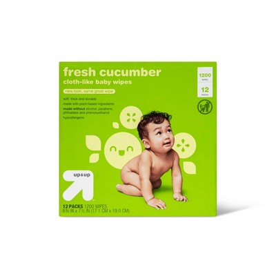 Cucumber Personal Baby wipes - 12pk/1200ct - Up&Up™